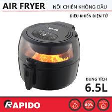 Nồi chiên không dầu điện tử Rapido dung tích 6.5L RAF6.5D chính hãng, bảo  hành 12 tháng - 2,455,000