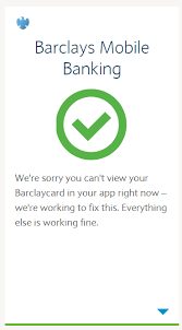 barclaycard disappeared or missing from