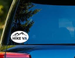 Amazon Com T1126 Hike Virginia Vinyl Decal Sticker 4 0 X 6 0 Easy To Apply Instructions Included Premium 6 Year Vinyl