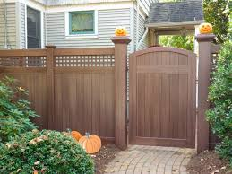 Here S A Great Halloween Idea Pumpkins On Top Of Your 8 X 8 Majestic Illusions Vinyl Fence Posts Shown In Wa White Vinyl Fence Backyard Fences Fence Design