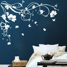 Large Butterfly Vine Flower Wall Stickers Wallpaper Accessories Wall Decals Home Garden Wallpaper Accessories