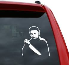 Amazon Com Black Heart Decals More Michael Myers Halloween Vinyl Decal Sticker Color White 5 Tall Automotive