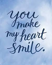 com you make my heart smile love quote art decor quote