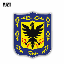 Yjzt 11 5cm 14cm Accessories Bogota City Coat Of Arms Colombia Flag Decal Car Sticker 6 1411 Car Stickers Aliexpress