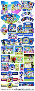 Kit Imprimible Sonic Candy Bar Fiesta Kit Imprimible