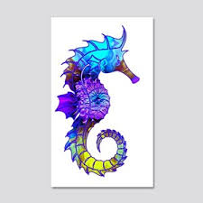 Seahorse Wall Decals Cafepress