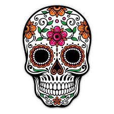 Sugar Skull Dia De Los Muertos Vinyl Sticker Waterproof Decal Sticker 5 Walmart Com Walmart Com