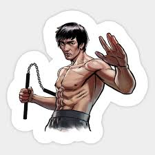 Bruce Lee Brucelee Sticker Teepublic