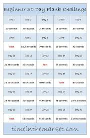 beginner 30 day plank challenge an