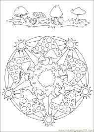 Paddestoelen Mandala Kleurplaten Kleurplaten Herfst Knutselen