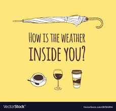 funny quote about weather how is the weather vector image