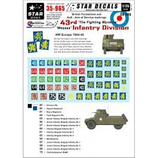 Star Decals 35965 British 43rd Wessex Infantry Division Nw Decals 1 35 The Largest Choice With 1001hobbies Com