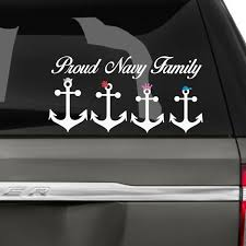 Proud Navy Family Car Decals The Decal Guru