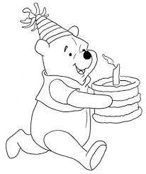 Winnie The Pooh Coloring Pages Birthday Winnie The Pooh Coloring