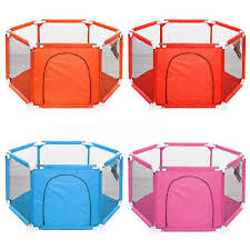 Baby Playpen 6 Panel Fence Play Pen For Toddlers Ocean Ball Safety Gate Fence Uk 25 99 Picclick Uk