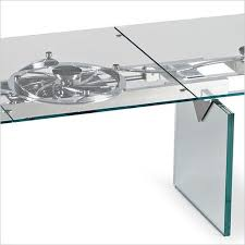 omega dining table expandable glass