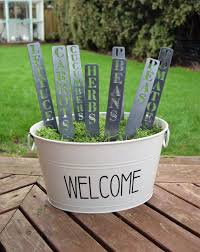metal garden markers plant stakes herb