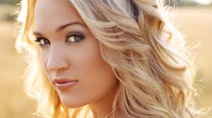 carrie underwood face blonde hair
