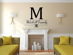 Family Name And Initial Wall Stickers Nontoxic Pvc Removable Wall Decal Monogram Home Design Wallpaper Hot Sale Mural Sa621 Designer Wall Stickers Name Wall Stickerswall Sticker Aliexpress