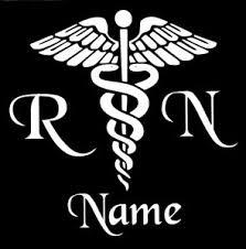 Personalized Caduceus Snake Medical Emblem Vinyl Decal Sticker Rn Nurse Yeti Cup Ebay
