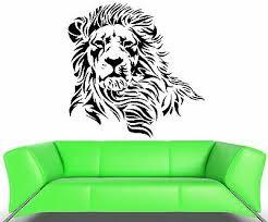 Wall Decal Lion Mane Wild Cat Beast Predator Animal King Vinyl Decal Ed380 Ebay