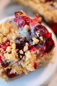 sour cream cranberry bars the best