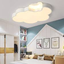 Led Cloud Kids Room Lighting Children Ceiling Lamp Baby Ceiling Light With Dimming For Boys Girls Bedroom Ceiling Lamp Led Pendant Lights Aliexpress