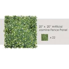 Garden Decors Depot Ecoopts Privacy 20 X 20 Artificial Jasmine Fence Greenery Panel For Outdor Indoor Backyard Garden Privacy Fence Ivy Screen Decoration 23 Pack Fence Panels Faux Ivy