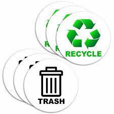 Vwaq Recycle And Trash Logo 6 Piece Decal Set For Trash Can Recycling Bin Reviews Wayfair