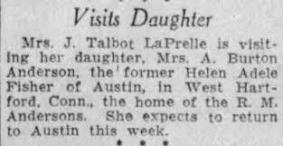Adele Steiner Fisher LaPrelle visits daughter Helen Adele Fisher Anderson -  Newspapers.com