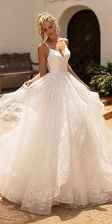 Pin by Adeline Holmes on Gowns in 2020 | Plain wedding dress, Ball gown  wedding dress, Wedding dresses