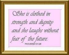 strong inspirational baby girl daughter christian bible verse