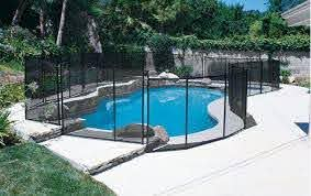 Safety Fence For Inground Pools Swimming Pool Safety Fences Pool Safety Fence Fence Around Pool Pool Fence