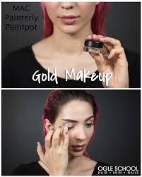 gold full face makeup tutorial