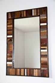 reclaimed wood mirror frame 36 x24 x1