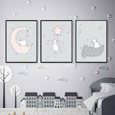 2020 Moon Star Sheep Nursery Room Wall Art Canvas Posters Print Painting Nordic Kids Bedroom Decoration Pictures Baby Gift Home Decor From Zuihangyuan1 1 77 Dhgate Com