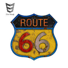 Earlfamily 13cm X 9 3cm Car Styling Route 66 Self Adhesive Vinyl Decal 3d Retro Car Sticker Graphics Waterproof Car Accessories Car Stickers Aliexpress