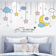 Waliicorners Stars Clouds Wall Stickers Pvc Material Diy Pendants Wall Decals For House Living Room Bedroom Decoration Waliicorner S Store