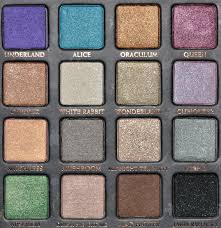 wonderland eyeshadow palette review