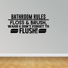 Bathroom Rules Wall Decal Bathroom Decor Family Rules Bathroom Wall Decal Jp269 L Walmart Com Walmart Com