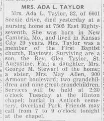 Ada Taylor - Newspapers.com