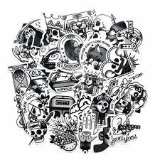 Us Seller 29 Graffiti Sticker Pack Skull Goth Cool Vinyl Stickers Stickers Decals