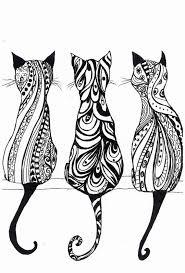 A4 Monochrome Cat Print Cute And Fun Property Of Camilla Olim