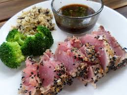 Seared Ahi Tuna with Soy Dipping Sauce ...