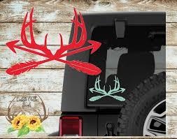 Deer Decal Sticker Arrow Decal Sticker Deer Arrow Decal Arrow Deer Decal Cooler Decal Yeti Decal Window Decal 30 Colors Arrow Decal Deer Decal Iphone Decal