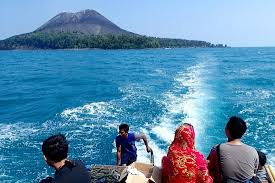 view from the top picture of krakatau volcano krakatoa java