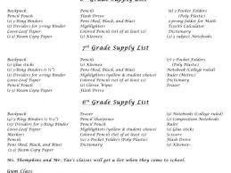 hialeah gardens middle supply list