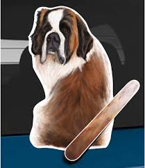 Amazon Com Wagging Wipers St Bernard Dog Car Rear Wiper Sticker Decal Automotive