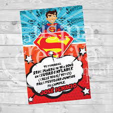 Invitacion De Cumple Superman La Usina Creativa