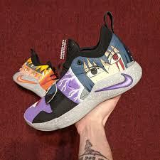 Custom Hand Painted Naruto/Sasuke Nike PG 2.5s by me : Naruto
